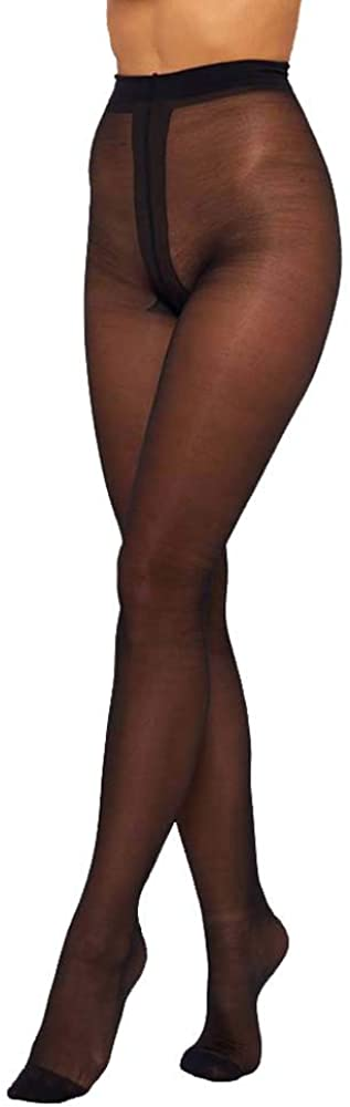 PANNA Steffa 40 DEN Classic Premium Pantyhose Without Panties With Covered Linel Reinforced Toes Tights Italian quality