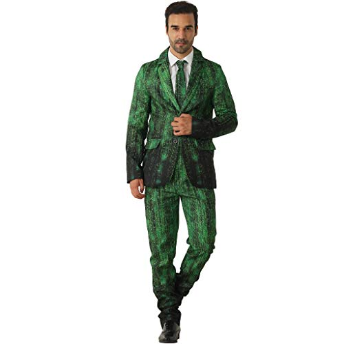 EraSpooky Daten Hacker Anzüge für Männer kommt mit Jacke Hose und Krawatte
