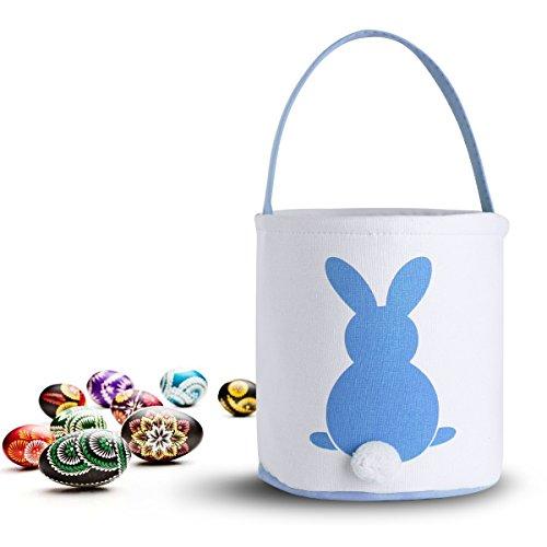 AOLVO Cesta de Pascua Plegable, Cesta vacía de Pascua, Cesta de Colada de Dibujos Animados, Cesta de algodón de Doble Capa, Huevos de Pascua y Cesta de Regalo, Ideal para Fiestas