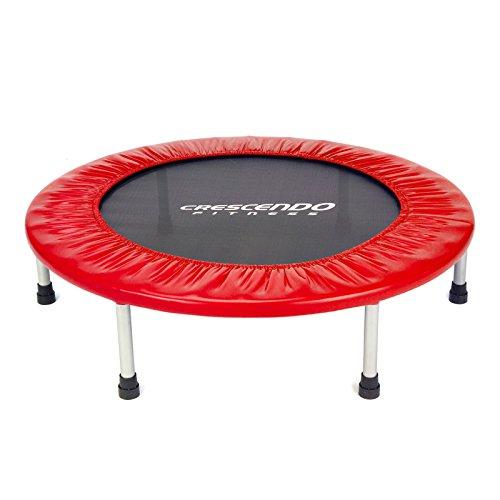 Crescendo Fitness Mini Jump Trampoline, Red, 32-Inch