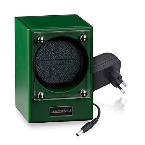 DESIGNHÜTTE® Uhrenbeweger Piccolo, Piccolors Limited Edition Jade/grün, Set 1 für 1 Automatikuhr, Modulares System bis zu 4 Beweger können über Induktion drahtlos miteinander verbunden Werden.