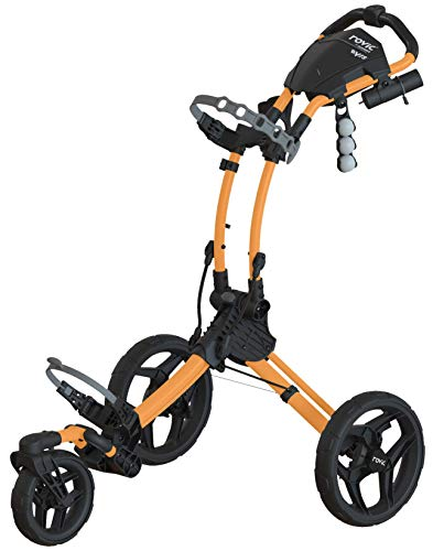 New Rovic Model RV1S Swivel | 3-Wheel Golf Push Cart Peach