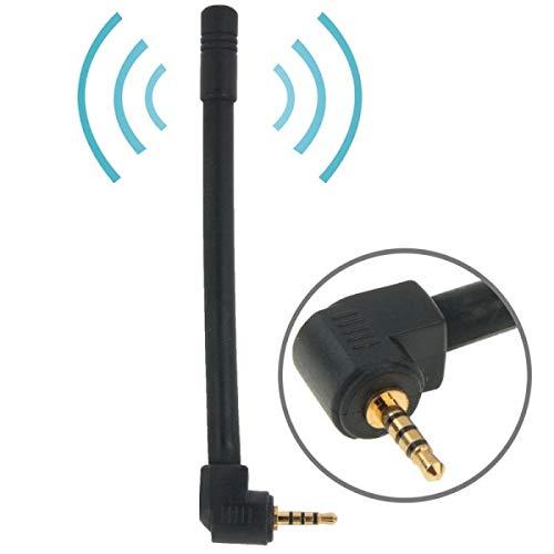 ILS -6dBi antenne FM en TV Mobile Stereo 2,5 mm lengte 10,2 cm (zwart)