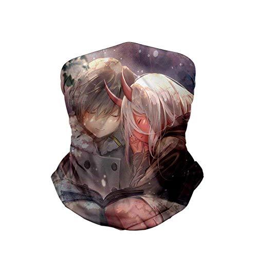 Tengyuntong Darling in der Franxx ist EIN Multi-Functional 3D Farbdruck von Männern uFrauen Ice Silk Scarf Magic Mask