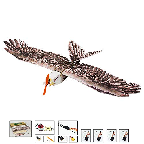 Upgrade RC Glider Airplane Eagle Foam RC Plane, 1.4M Wingspan Durable EPP RC Airplanes Kit to Build for Adults, DIY Electric 4CH Remote Control Airplane RC Aircraft Outdoor Fly (KIT+Motor+ESC+Servo)