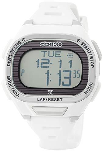[セイコーウォッチ] 腕時計 プロスペックス Super Runners ソーラー 薄型ランナーズ デジタル ソフトポリウレタンバンド SBEF051 ホワイト