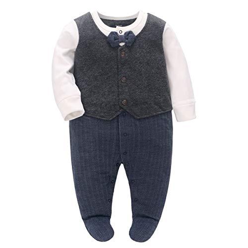 Famuka Baby Junge Anzug Taufe Hochzeit Partei Babykleidung (Blau, 18-24 Monate)