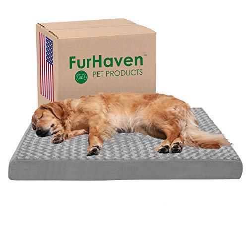 FurHaven NAP Pet Bed Egg-Crate Orthopedic Pet Mattress Deluxe Dog or Cat Bed, Water-Resistant Base