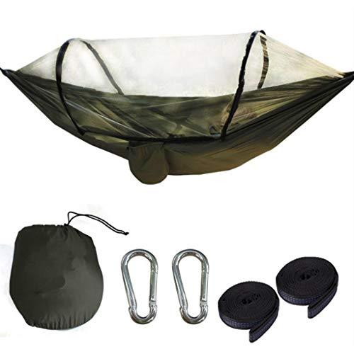 shiftX4 Hamaca portátil para acampar al aire libre con mosquitero, paracaídas, ideal para colgar, hamaca para viajes, muebles de patio, equipo de supervivencia