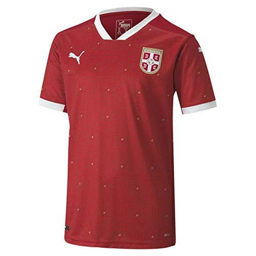 PUMA 2020-2021 Serbia Home Football Soccer T-Shirt Jersey (Kids)