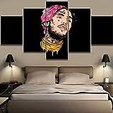 Suwhao Wandkunst Leinwand Modulare Panel 5 Lil Peep Musik Wohnkultur Gemälde Hd Poster Gedruckt Wohnzimmer Bilder Kein Rahmen