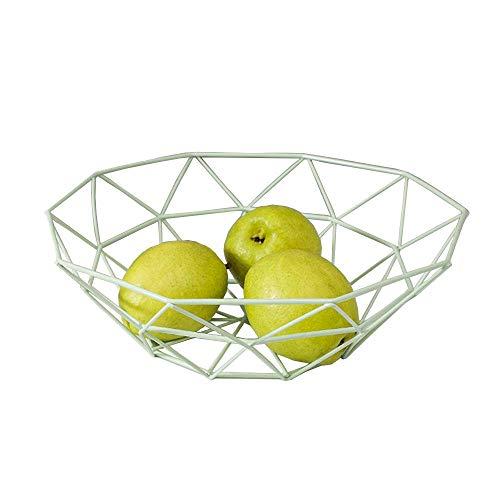 Frutero de hierro para el hogar, cuenco de frutas, plato de frutas, organizador de aperitivos, cesta de almacenamiento, decoración de mesa para el hogar o la oficina
