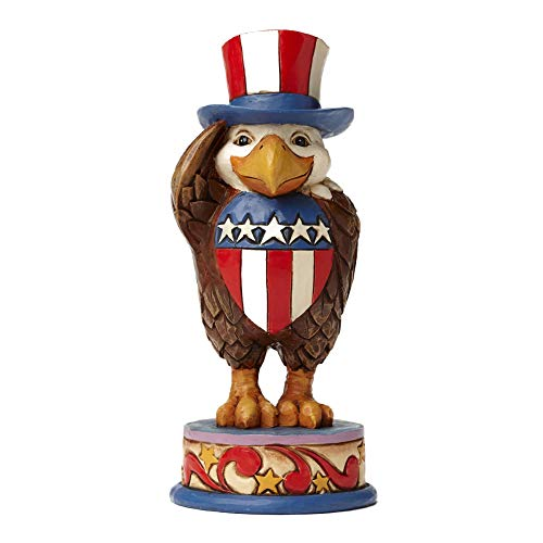 Jim Shore Heartwood Creek Pint Size Patriotic Eagle Stone Resin Figurine, 5.25""