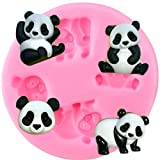TANGTANGYI Panda Bear Silicone Mold Animals Candy Clay Chocolate Soap Resin Moulds Baby Party Cupcake Topper Fondant Cake Decorating Tools