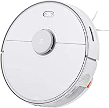 Roborock S5 MAX Robot Vacuum and Mop Robotic Vacuum Cleaner with E-Tankn Lidar Navigation Selective Room Cleaning, Super Powerful Suction and No-mop Zones Works With Alexa (White)