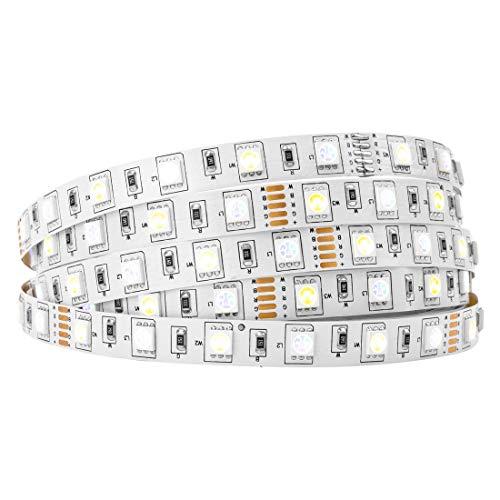 BTF-LIGHTING 16.4ft 5M 5050 RGBW RGB+blanco frío tira de led Mezclado color 60leds/m IP30 No impermeable 300LEDs Cinta de led DC12v