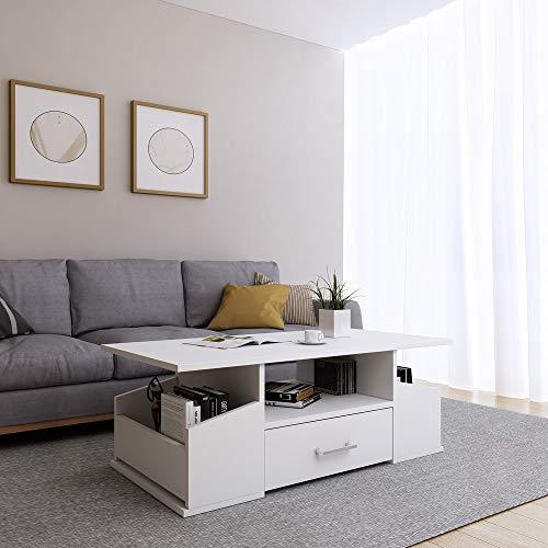 Happy Home Couchtisch HWC02-WEI Wohnzimmertisch Sofatisch Tisch Holz Beistelltisch