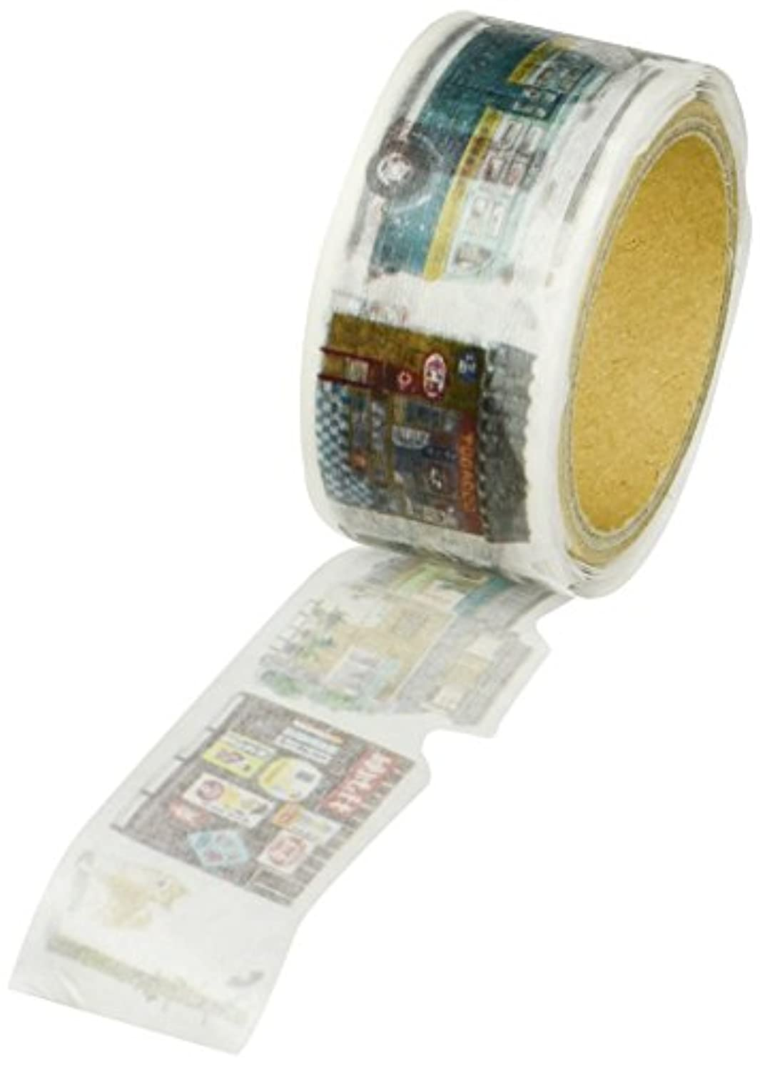 Roundtop Designer's Washi Masking Tape 20mm x 5m, Yano Design Trip & Holiday, Showa (YD-MK-063)