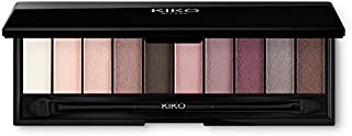KIKO MILANO - Smart Eyeshadow Palette with 10 shades of various finishes. Double-ended applicator included Color Rose 01