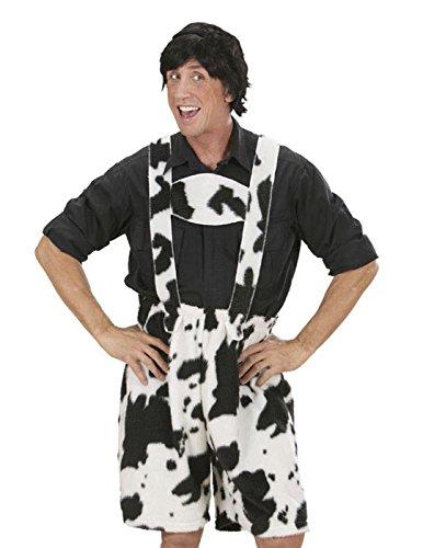Widmann 59043 – leren broek/broek kostuum achteruit, koeidesign, in pluche, maat L