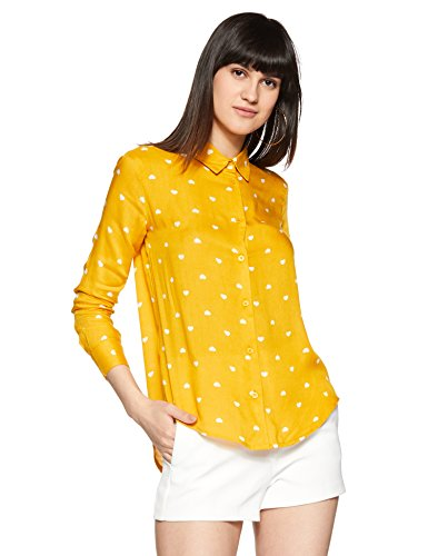 Styleville.in Women's Comfort fit Yellow Full Sleeve Shirt