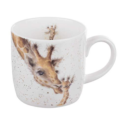 Wrendale by Royal Worcester - Taza con diseño primer beso de jirafa, multicolor