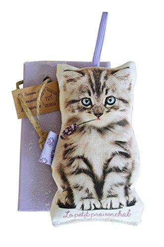 Tranche Seifenspender Lavendel- und Katze Kissen gefüllt mit Lavendel Herstellung provençale Marke KSS KSS KSS
