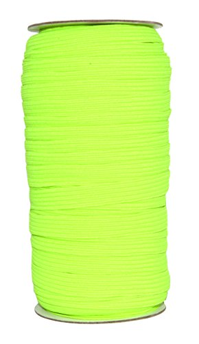 Mandala Crafts Flat Elastic Band, Braided Stretch Strap Cord Roll for Sewing and Crafting; 3/8 inch 10mm 50 Yards Lime Green