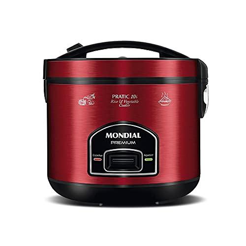Panela de Arroz Elétrica Mondial, Pratic 10L Premium, 220V, Vermelho, 700W