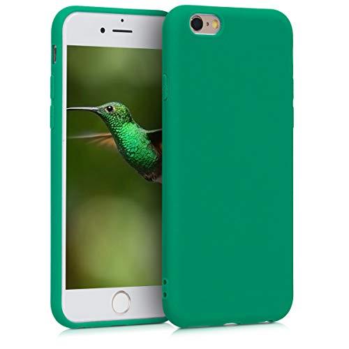 kwmobile Custodia Compatibile con Apple iPhone 6 / 6S - Cover in Silicone TPU - Back Case per Smartphone - Protezione Gommata Verde Smeraldo