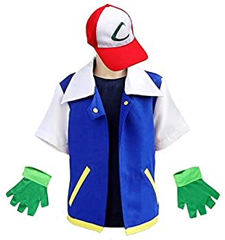 Cosplay Costume for Adult Kids,Halloween Hoodie,Jacket Gloves Hat Sets for Trainer  120 for 6-7T Blue