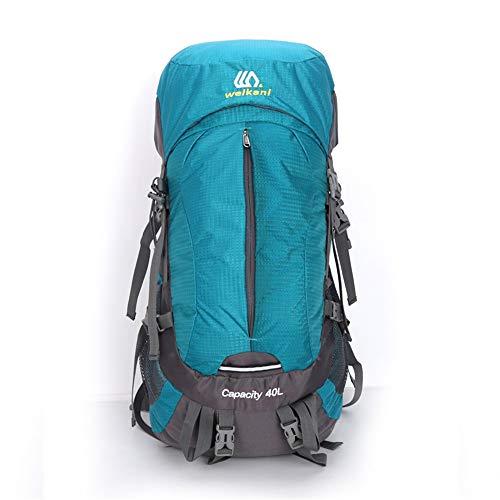 Hiking Backpack Trekking Camping Rucksack Travel Backpack Trekking Hiking Mountaineering Climbing Camping Rucksack(40L) Water Resistant (Color : Lake Blue, Size : 40L)