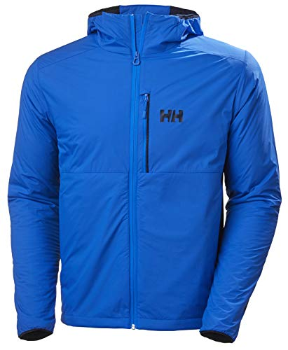 Helly-Hansen Mens Odin Stretch Hooded Lightweight Outdoor Tech Insulator Jacket, 639 Electric Blue, Large