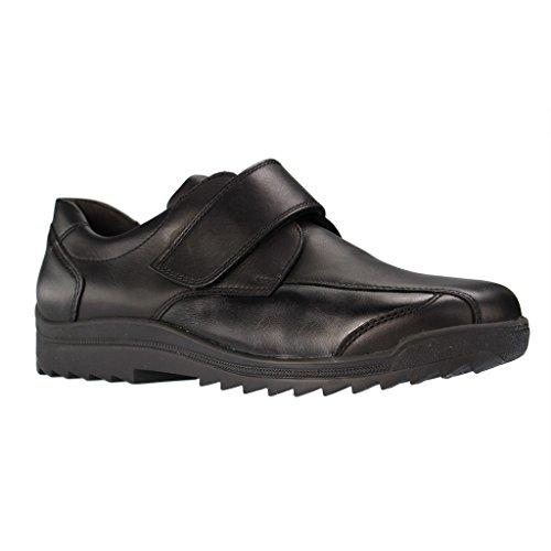 WALDLÄUFER - K13302 687 001 Kai-S - Herren Slipper - Schwarz Schuhe in K Weite, Farben:Schwarz;Größe:42;Weite:K