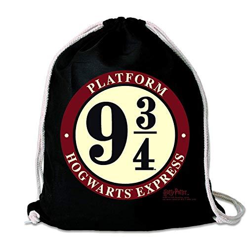 Harry Potter originele gymtas katoenen rugzak Hogwarts Express Platform 9 3/4 Gleis Logo