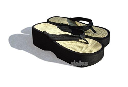 cinius Sandalias High-Zori Talla 39, Flip Flop (Alrededor de 26.5cm)