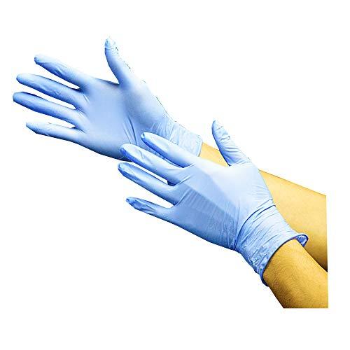川西工業 #2039 ニトリル手袋 使い捨て 粉無し 100枚入り ブルー Mサイズ