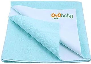 OYO BABY - Water Proof and Reusable Mat/Mattress Protector/Absorbent Sheets (100cm X 70cm, Medium) - Sea Blue