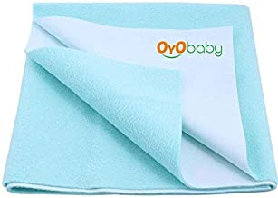 OYO BABY - Water Proof and Reusable Mat/Mattress Protector/Absorbent Sheets (100cm X 70cm, Medium) - Sea Blue
