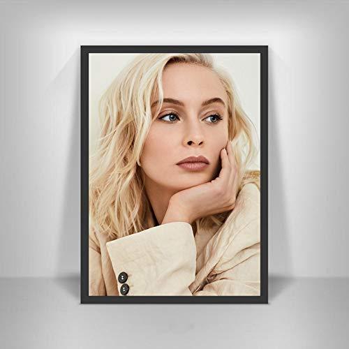 YF'PrintArt Leinwanddrucke Zara Larsson Poster Schwedische Musiksängerin Star Wall Art Picture Poster Und Drucke Für Room Home Decor Leinwandbild Rahmenlos 50X70Cm -A1223