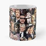 Martin Freeman Collage – La migliore tazza da caffè in ceramica di marmo bianco da 11 oz!