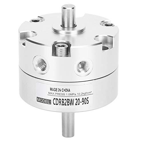 Ladieshow Cilindro de aire Tipo de paleta Accesorios neumáticos giratorios de acero inoxidable CRB2BW20‑90S Actuador giratorio neumático de 20 mm de cilindro de aire de tipo paleta