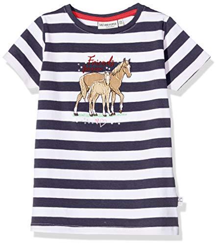 Salt & Pepper Mädchen 03112266 T-Shirt, Blau (Navy 498), 116 (Herstellergröße: 116/122)