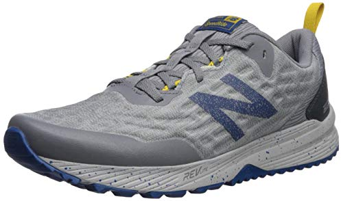 New Balance Men's Nitrel V3 Trail Running Shoe, Grey/Blue, 9.5 M US