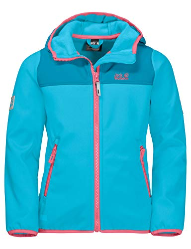 Jack Wolfskin Kinder FOURWINDS Jacket Kids Softshelljacke, Atoll Blue, 140
