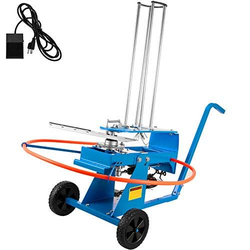 VEVOR Lanzaplatos 23KG Lanzador de Tiro al Plato 98CM Tiro al Plato Lanzaplatos Caza Máquina Tiro Plato Azul con Ruedas