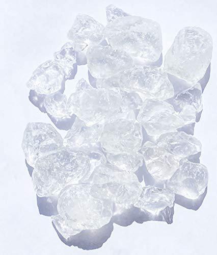 Granulés de verre 25-30 mm(EUR 6,36/kg), couleur : transparent, 2,5 kg, granulés de verre, pépites de verre transparent, pour décoration de table pour mariage, les anniversaires, baptêmes et autres festivités.