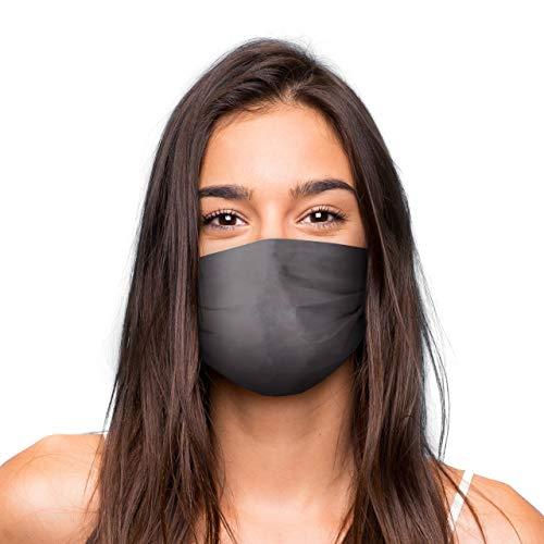 Mund Nasen Maske »GRAU« waschbar | Wiederverwendbare Gesichtsmaske | Community-Maske in Universalgröße | Alltagsmaske handgefertigt in der EU | in unterschiedlichen Farben, Designs und Motiven