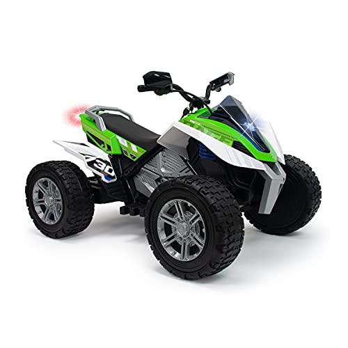 INJUSA- Quad Rage 24v für Kinder ab 6 Jahren mit 2 Geschwindigkeiten, Federungen, Front- und Rücklichter, Grüne Farbe