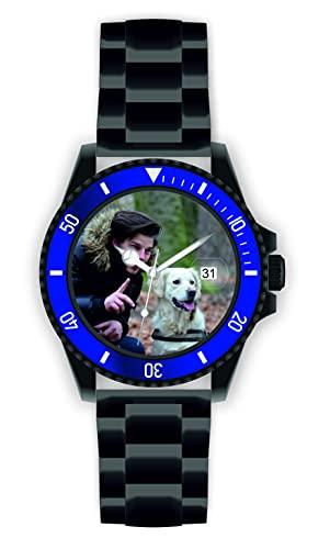 Memories - Reloj de pulsera para hombre con foto, diámetro de 40 mm, 3 bar, resistente al agua, con foto y fecha